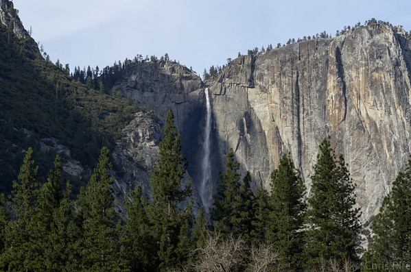 Yosemite Falls was running again thanks to some recent rain.